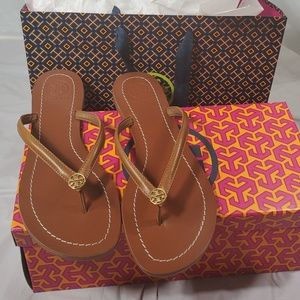 Brand new authentic Tory Burch Terra thong sandals